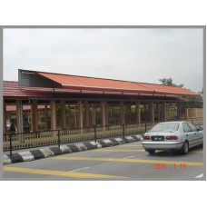 Retractable Awning with Extension Roof Top - Hin Hua School