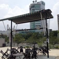 Retractable Drop Arm, 4m Double Opening  - Bucita Court