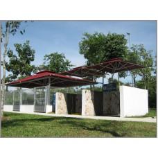Fixed Side Pole Umbrella - Setia Eco Park 1