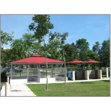 Fixed Side Pole Umbrella - Setia Eco Park 2